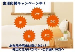 【ネット限定】布団クリーニング 生活応援キャンペーン中!のチラシ